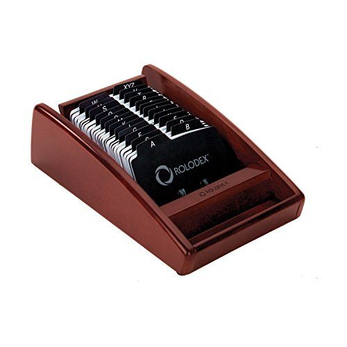 Amazon Com Rolodex Wood Tones Mahogany Business Card Tray 1734240 Business Card Holders Office Products Rolodex Business Cards Business Card Holders