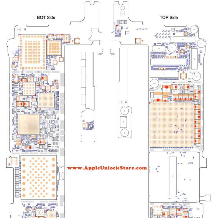 appleunlockstore service manuals iphone 6s plus circuit rh pinterest com iPhone 4S Dimensions iPhone 4S Internal Diagram