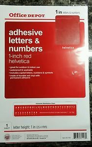 Vinyl Letters Numbers 1 Inch Red Stickers Helvetica Indoor Outdoor Permanent Lettering Letters And Numbers Vinyl Lettering