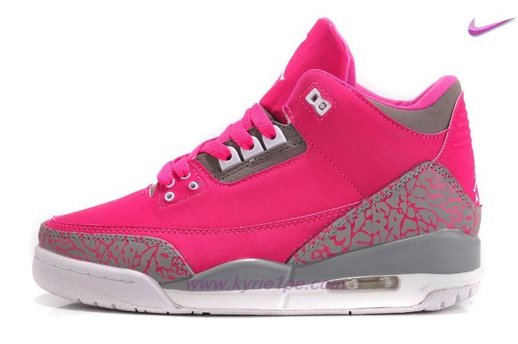huge selection of 8afb1 00b5d Donna AIR JORDAN 3 RETRO 318376-089 RosaGrigio