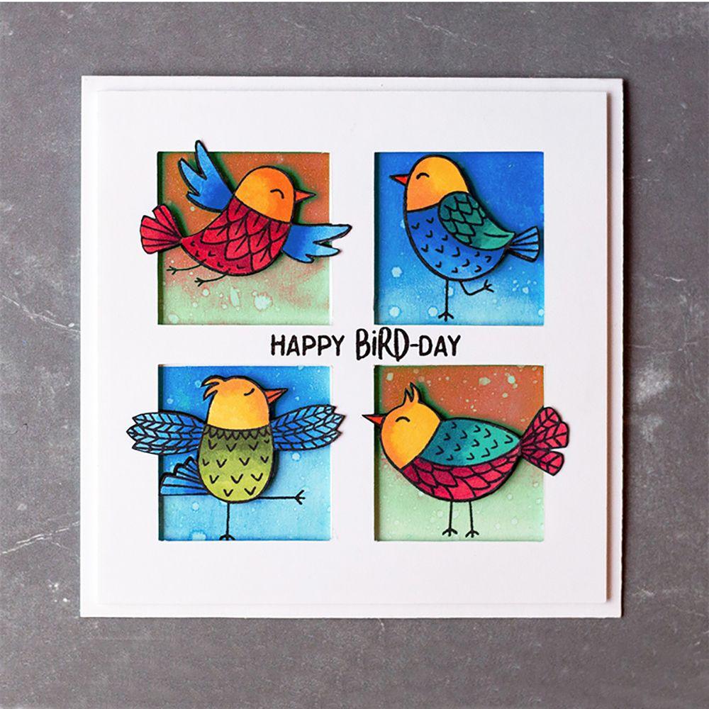 2 Birds Metal Cutting Dies Stencil Scrapbooking Embossing Paper Card Craft DIY