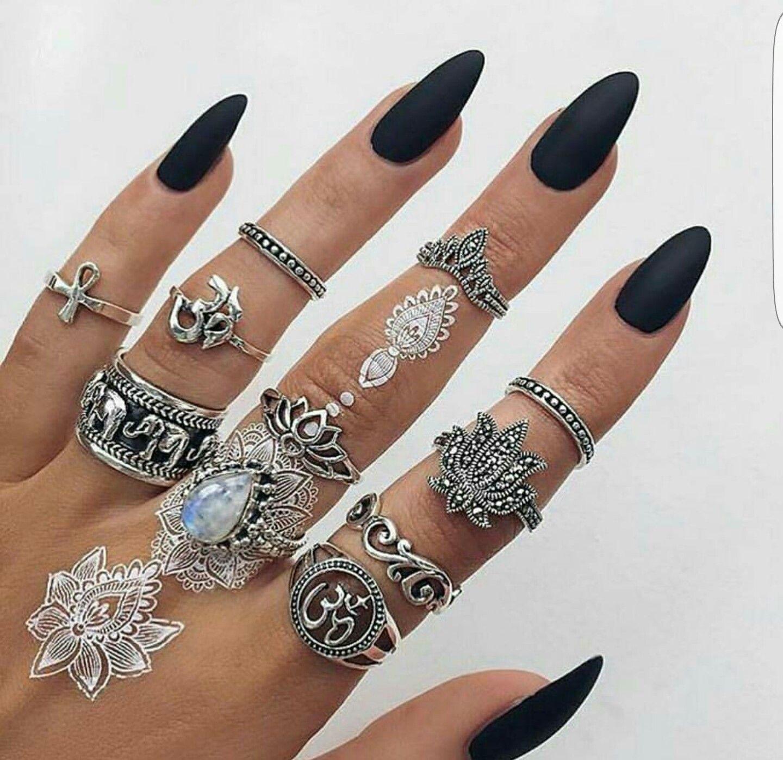 Bohemian Jewels... @rt&misi@. | Nails | Pinterest | Nail inspo, Nail ...