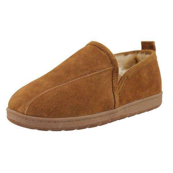 Lamo Footwear - Men's Merino Wool Romeo Slipper - Chestnut. This men's  Romeo slipper features