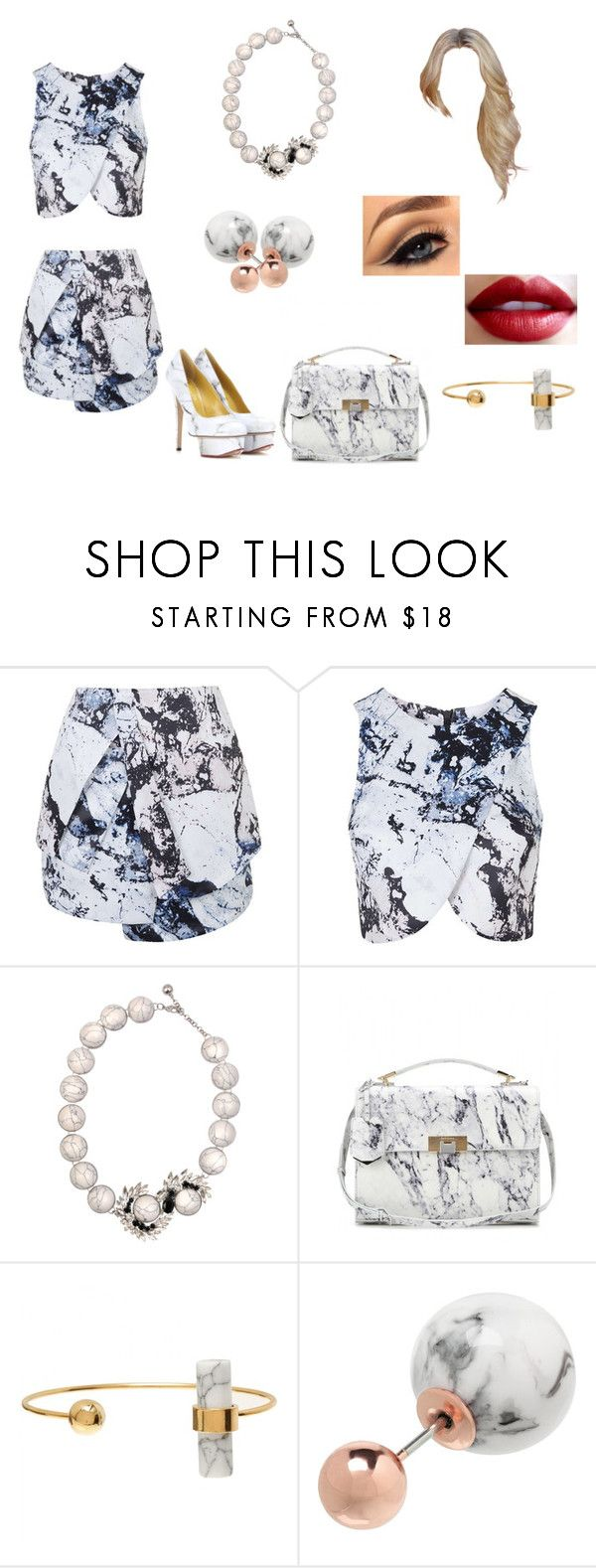 """""""Untitled #177"""" by grosa774 ❤ liked on Polyvore featuring Topshop, SHOUROUK, Balenciaga, David Jones and Charlotte Olympia"""