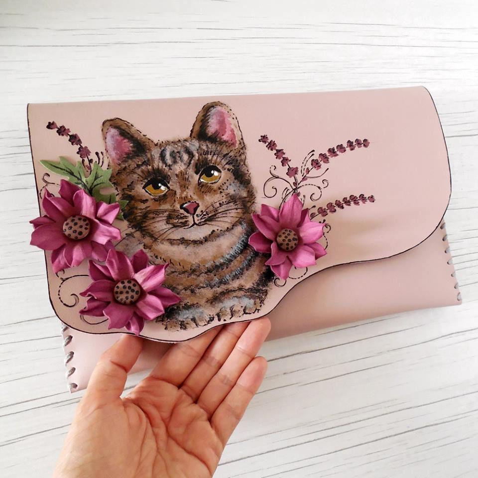 Love Cats Bag Painted Cat Bag Kitten Bag Cat Gift Kitten Gift Cute Bag Cute Cat Cute Cats Cute Gift Painted Kitten Purse Cat Lover Kittens Gifts Cat Bag Painted Clutches