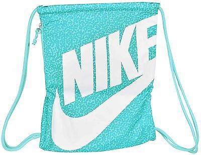 Nike Heritage Drawstring Gym Nap Sack Bag-Teal/White | Sack bag ...