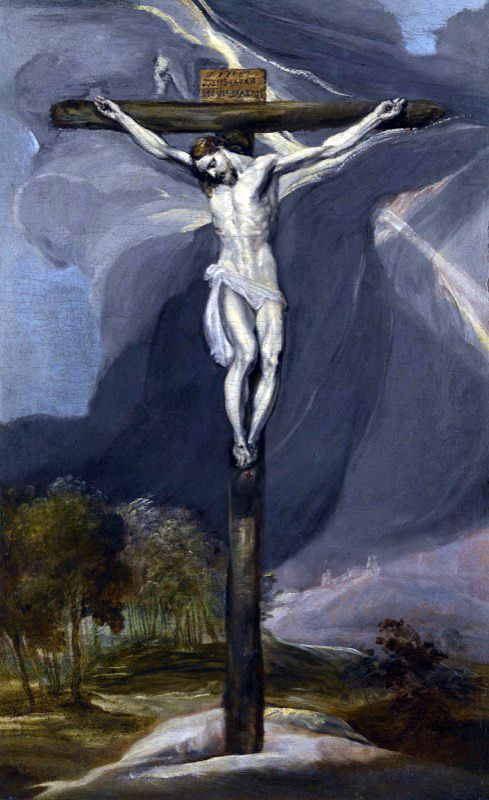 El Greco Crucifixion Oil On Canvas 1573 1574 Details