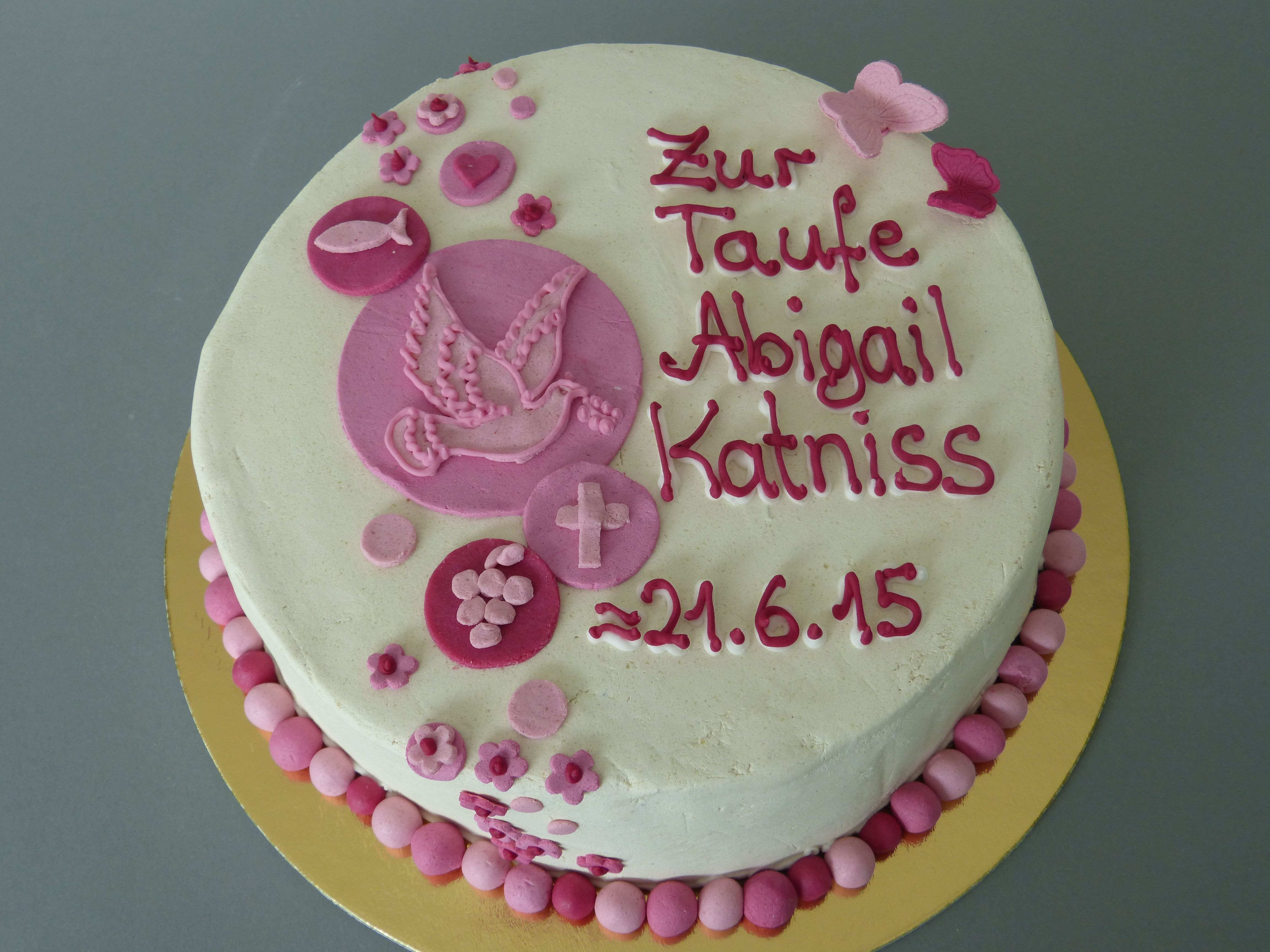 Christening CakeTauftorte Taufkuchen girl pink Cake Cube Konz Niedermennig Trier Kuchen
