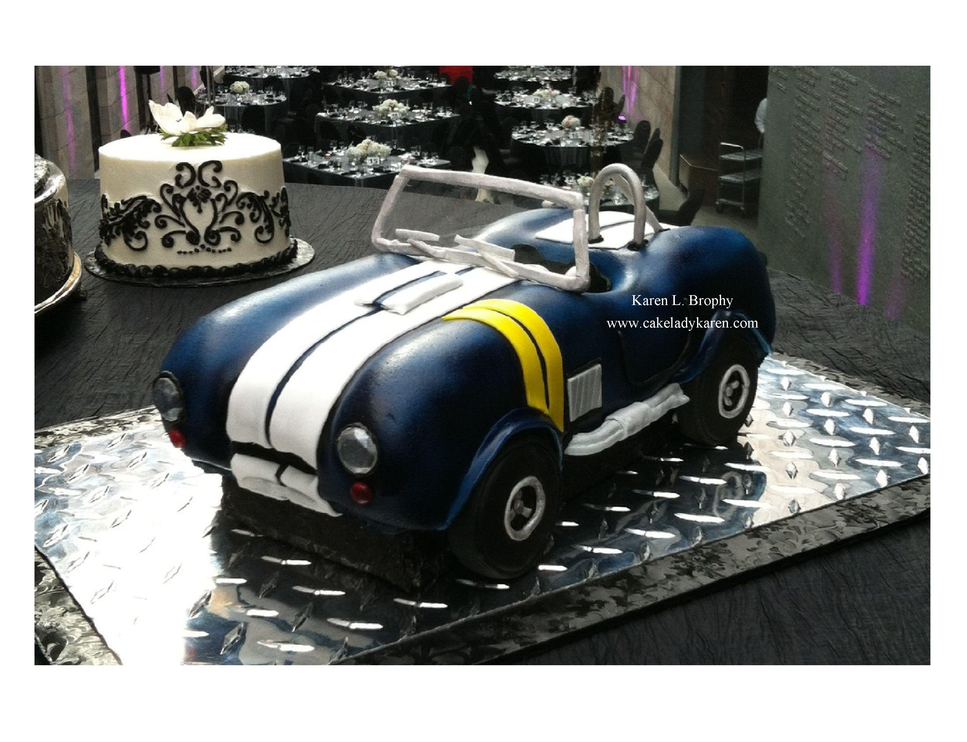 Shelby Cobra Grooms Cake Karen L Brophy Wedding Cake Designer www