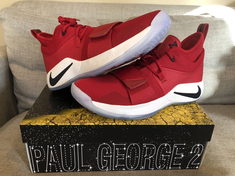 9b49dff41a52 Details about Nike Paul George PG 2.5 Gym Red Fresno State Bulldogs ...