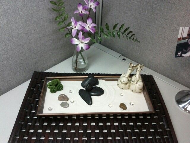 My Cubicle Zen Garden Zen Decor Zen Garden Work Space Decor