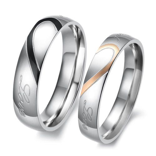 High Quality 14k White And Yellow Gold His And Her Matching Wedding Rings 5  Mm,