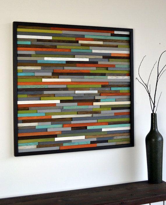 Wood Wall Art - Wooden Art - Reclaimed Wood - Abst