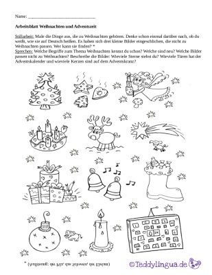 arbeitsblatt weihnachten und adventszeit daz xmas. Black Bedroom Furniture Sets. Home Design Ideas