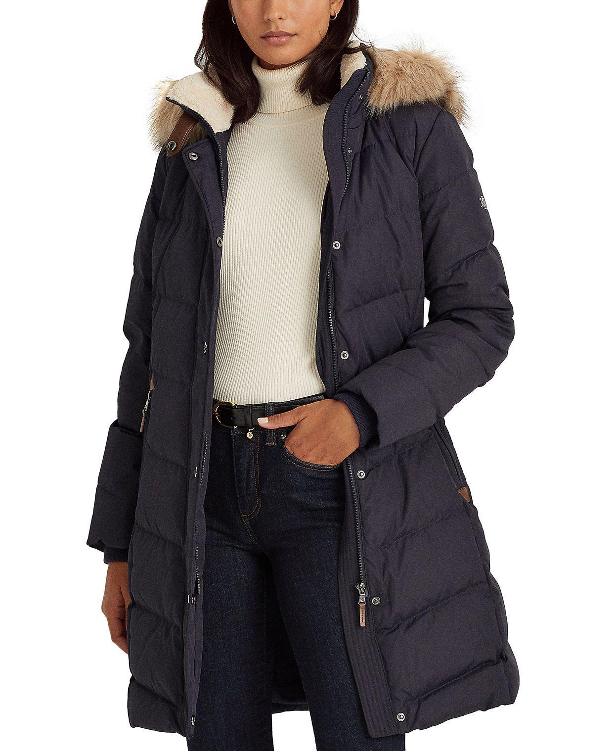 Lauren Ralph Lauren Hooded Down Coat Created For Macy S Reviews Coats Women Macy S In 2021 Coats For Women Down Coat Coat [ 1518 x 1242 Pixel ]