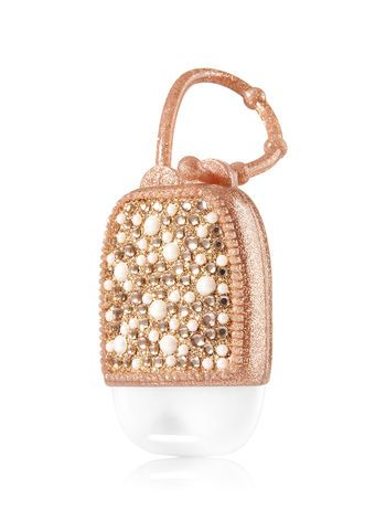 Rose Gold Bling Pearl Pocketbac Holder Bath And Body Works
