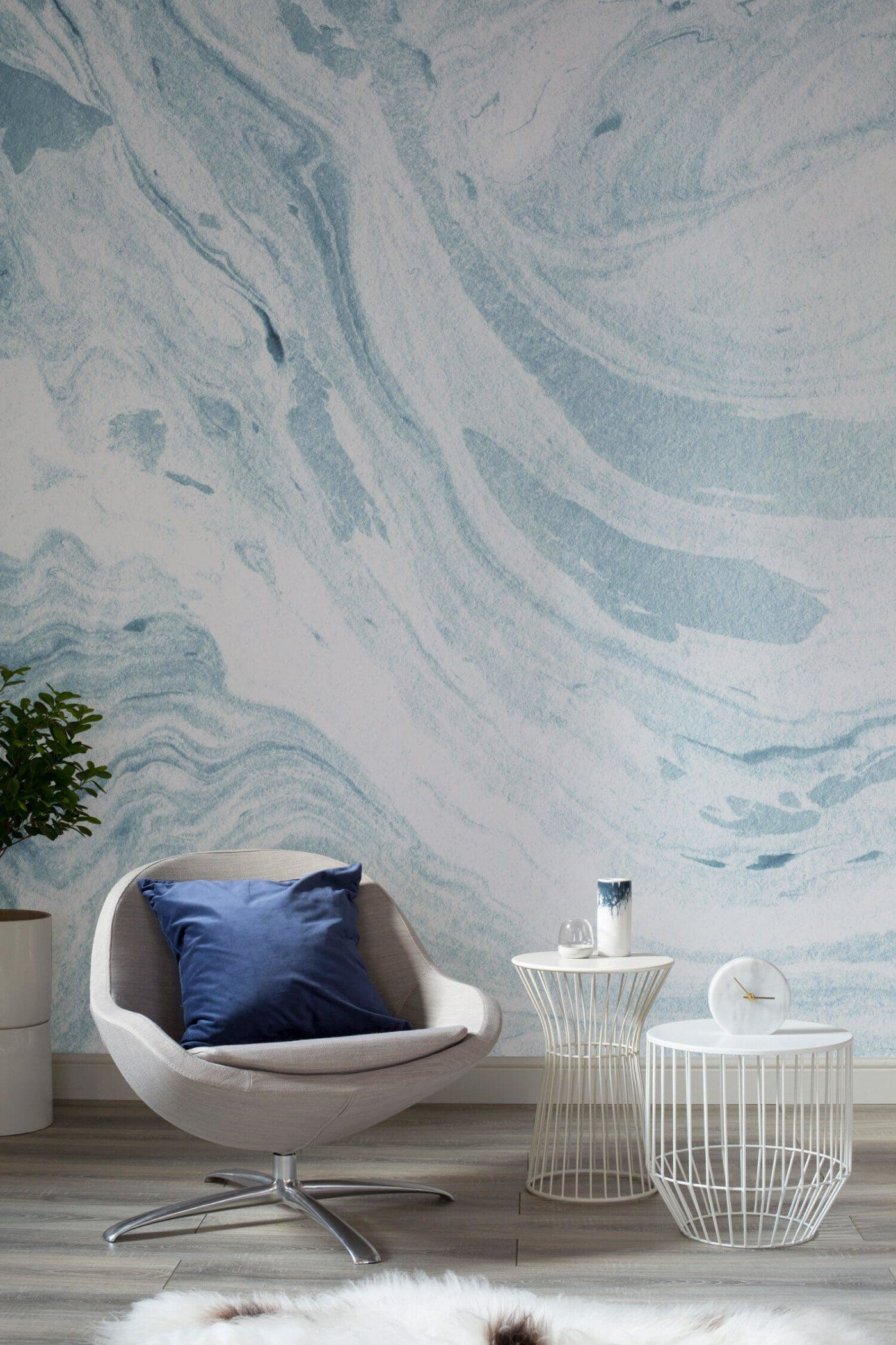Blue And White Marble Wallpaper  How Dream