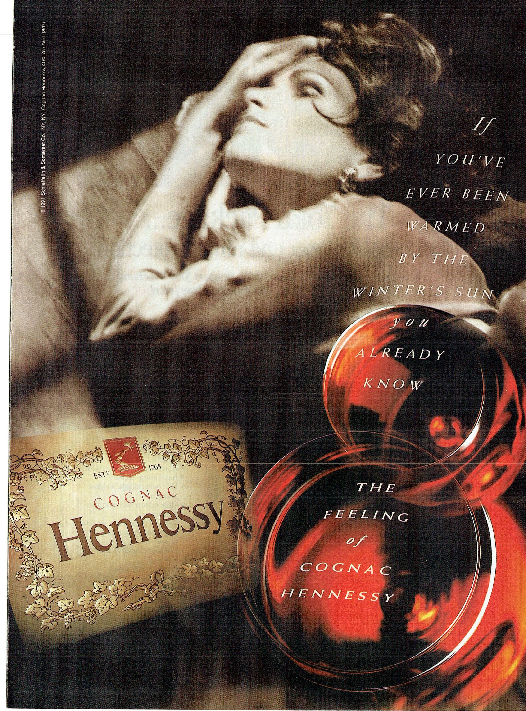 1995 Advertisement Hennessy Cognac 90 S Warmed By The Winter S Sun Drinker Brand Bar Pub Restaurant Wall Art Decor Hennessy Winter Sun Beer Advertising