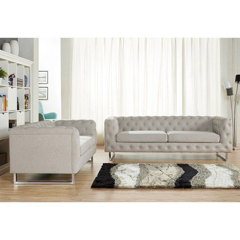 Us Pride Furniture Evangalina 2 Piece Sofa Set S5148 2pc