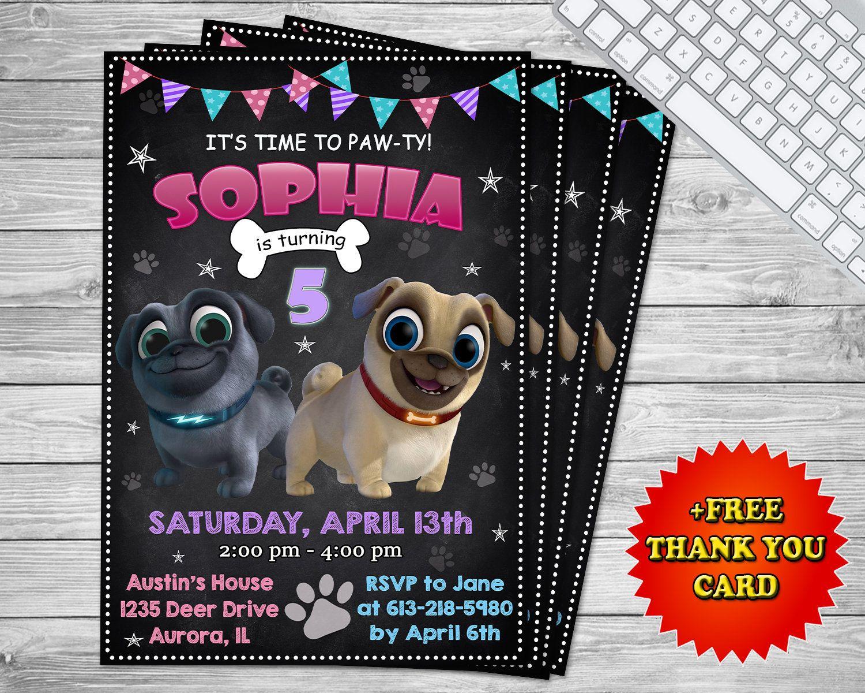 Puppy Dog Pals Invitation Puppy Dog Pals Girl Invite Puppy Dog Pals Birthday Invitation Puppy Dog Pals Party Puppy Invitations Dogs And Puppies Puppy Party