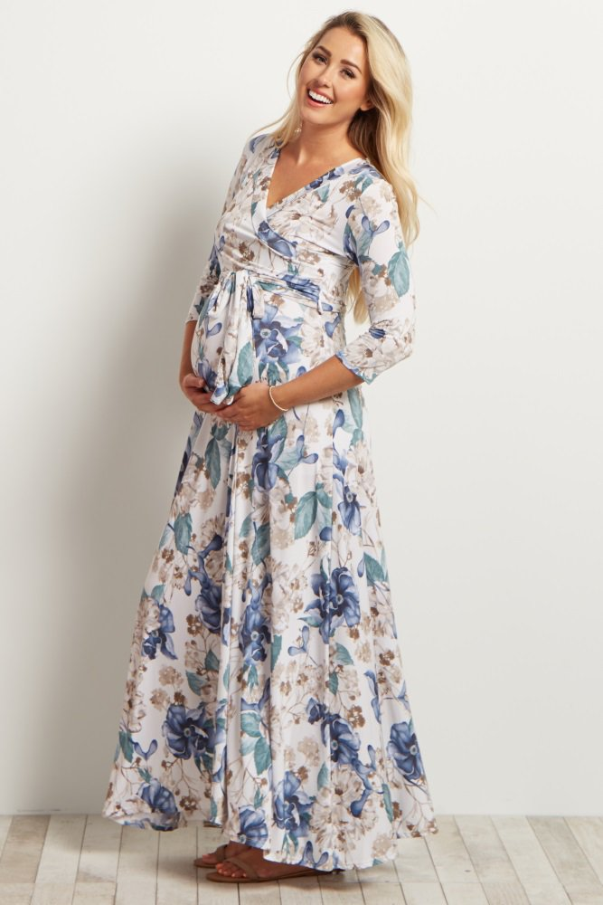 04e9f871dec Once you put this maternity maxi dress on, you won't want to take it off!  This versatile maxi is perfect to show off your bump during pregnancy, ...