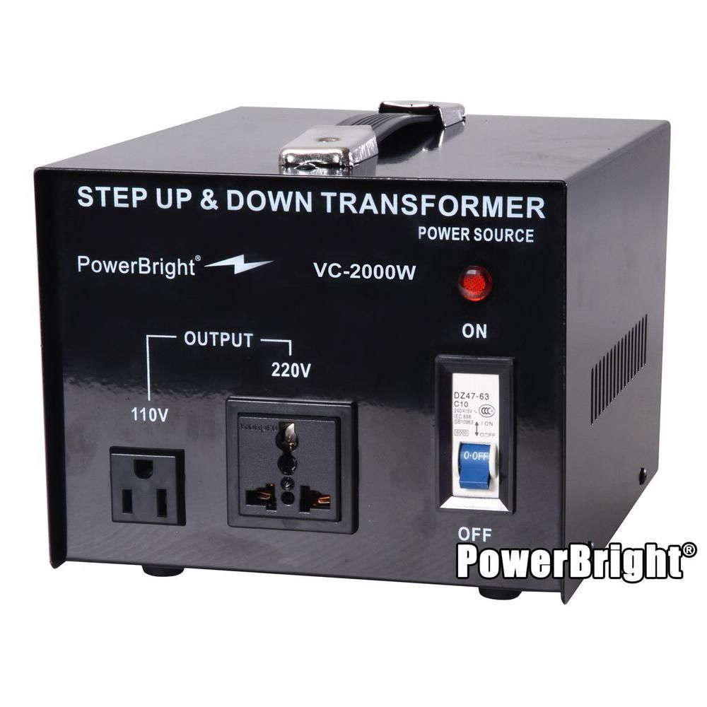 Power Bright 2000 Watts Step Up Down Converter 110 120 Volt 220 240 Volt Voltage Transformer Vc2000w Transformers Step Up Outlet Converter