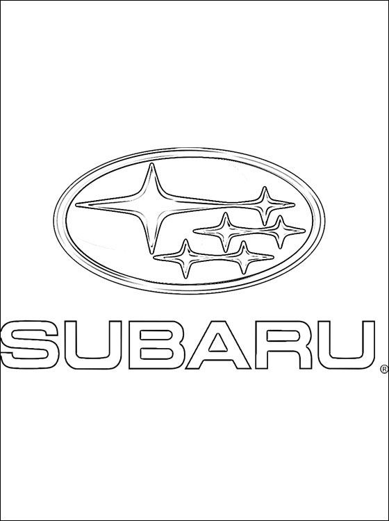 Coloring page subaru logo coloring pages