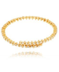 bracelete maleavel dourado semi joia fina
