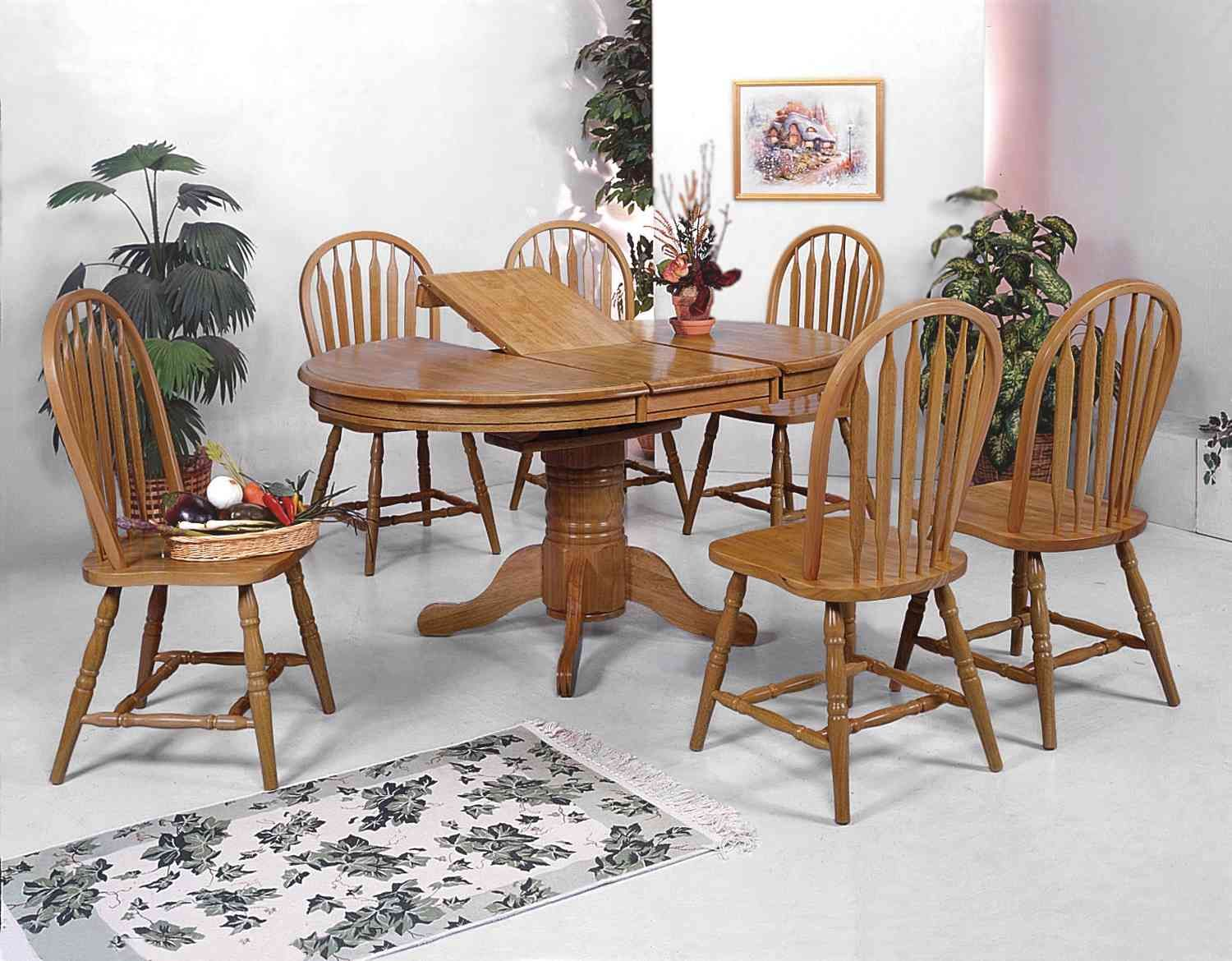 Sharp Dark Oak Dining Room Set With Simple Picture Sweet Trendy