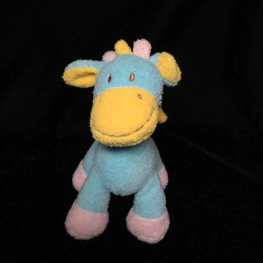 Chinda International Blue Yellow Pink Giraffe Plush Soft Toy 7 ...