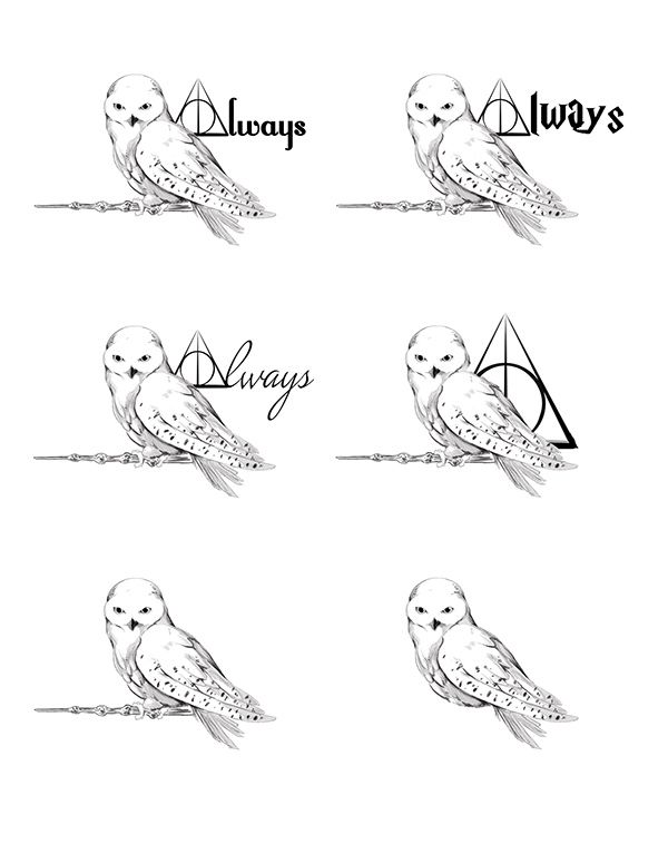 A Tattoo Design For A Friend Based On Hedwig From Harry Potter Harry Potter Tattoo Small Harry Potter Tattoos Harry Potter Owl