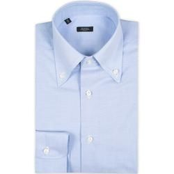 Photo of Barba Napoli Slim Fit Button Down Oxford Shirt Blue Barba
