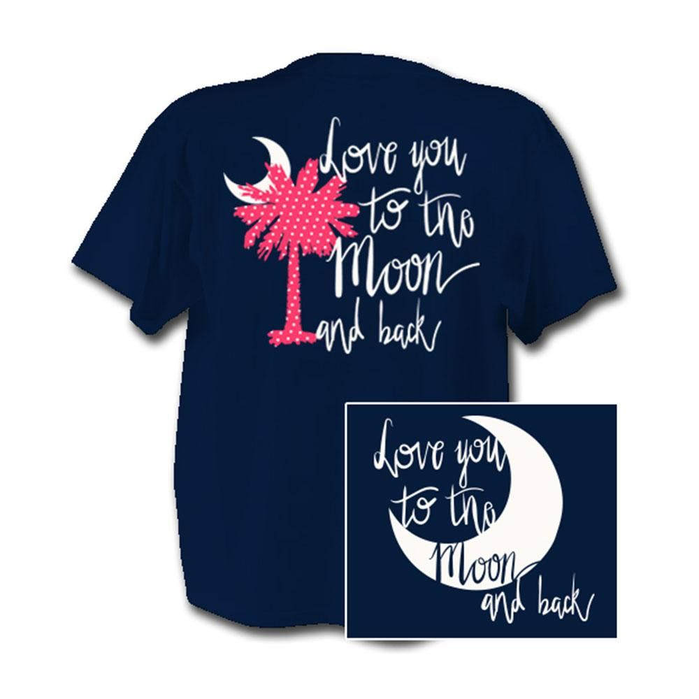 Love You To The Moon T-Shirt NAVY
