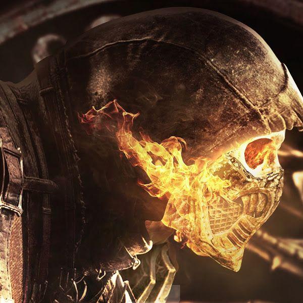 Scorpion Skull Flaming Mortal Kombat 11 4k 3840x2160