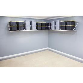 Rhino Shelf 288 In W X 26 In H X 34 In D Metal Wall Mounted Shelving Ck Cc Wall Mounted Shelves Shelves Garage Storage Shelves