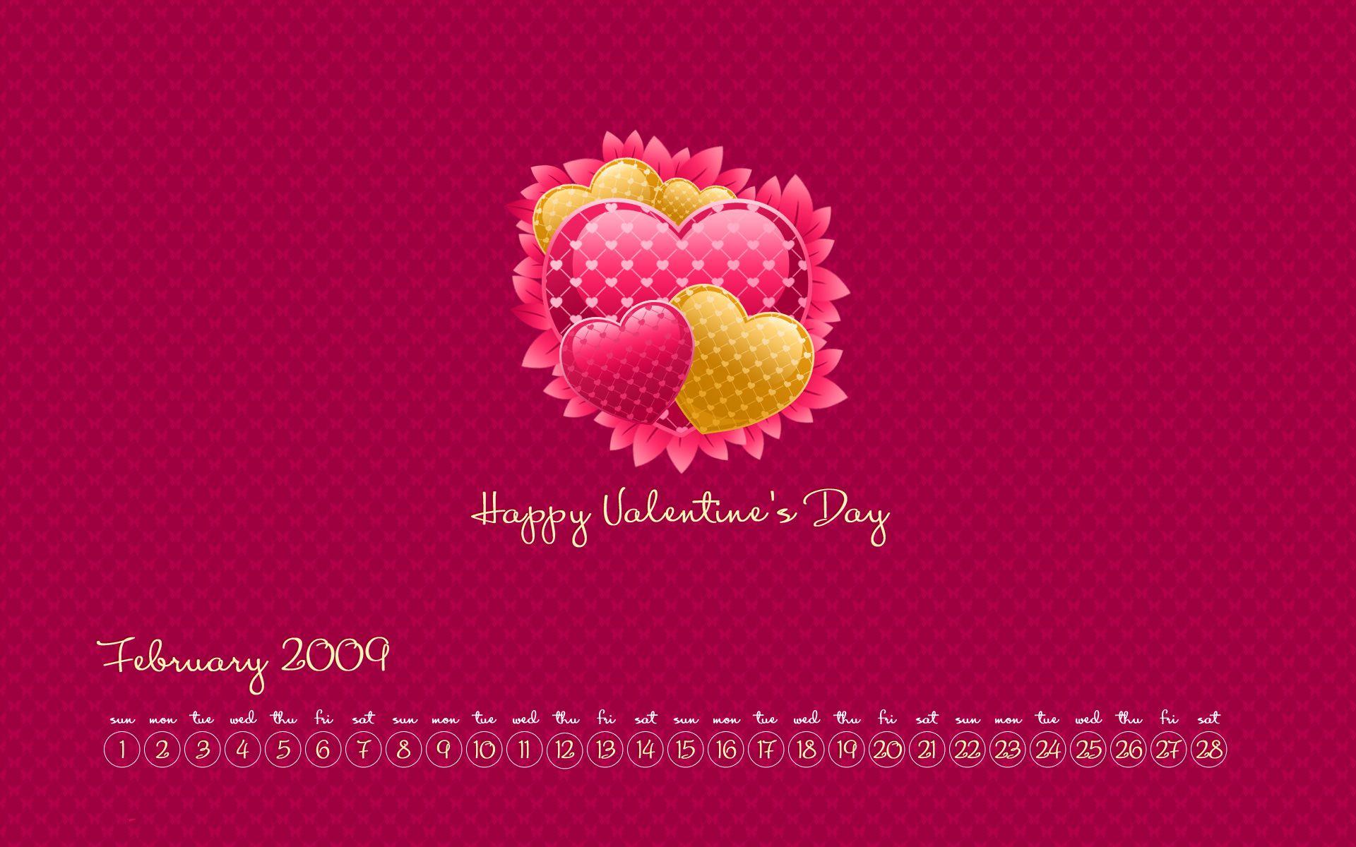 Create February 2009 Calendar Wallpaper In Photoshop Cs4