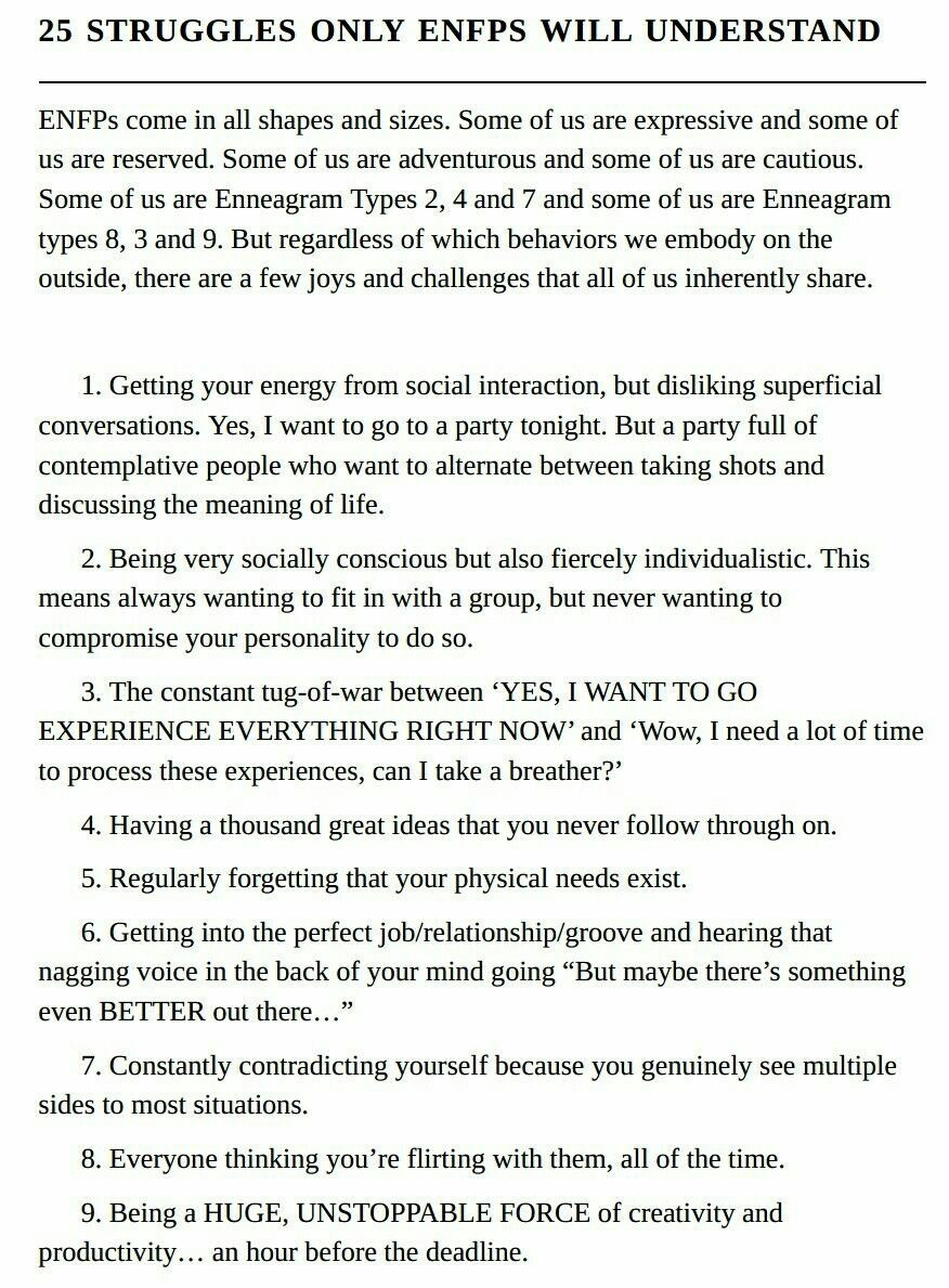 Spot enfp an to how 10 Signs