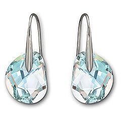 Swarovski Galet Light Azore Blue Crystal Earrings 949740 Earings Piercings Blue Crystal Earrings Swarovski Earrings