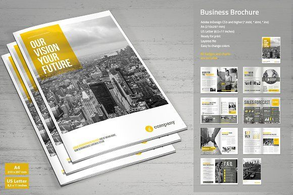 Business Brochure Vol 3 by MrTemplater on @creativemarket - business pamphlet templates free
