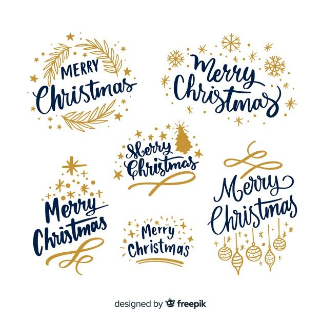 Download Christmas Typography Set for free