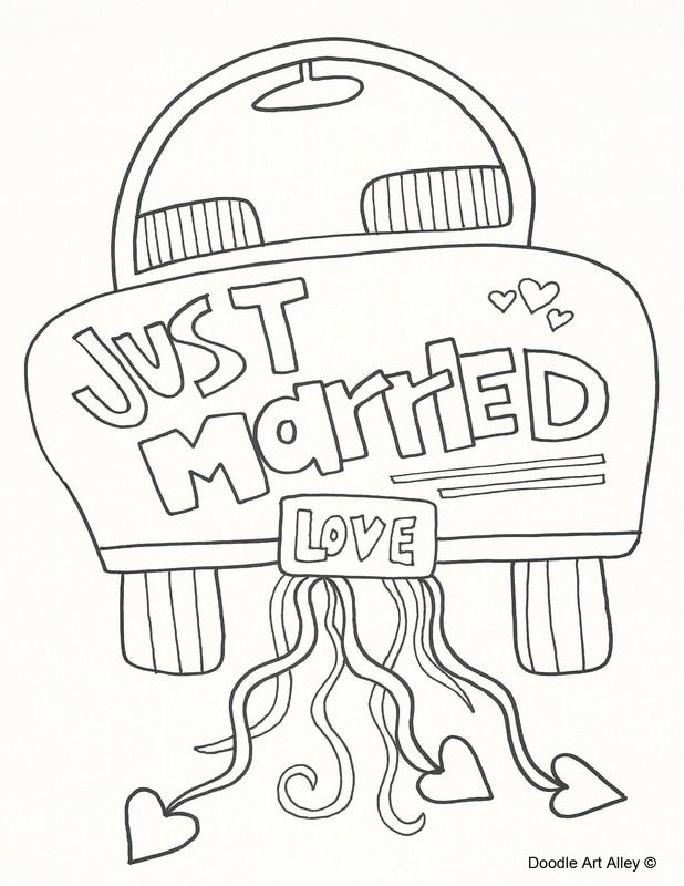 Picture Wedding Coloring Pages Free Wedding Printables Kids Table Wedding