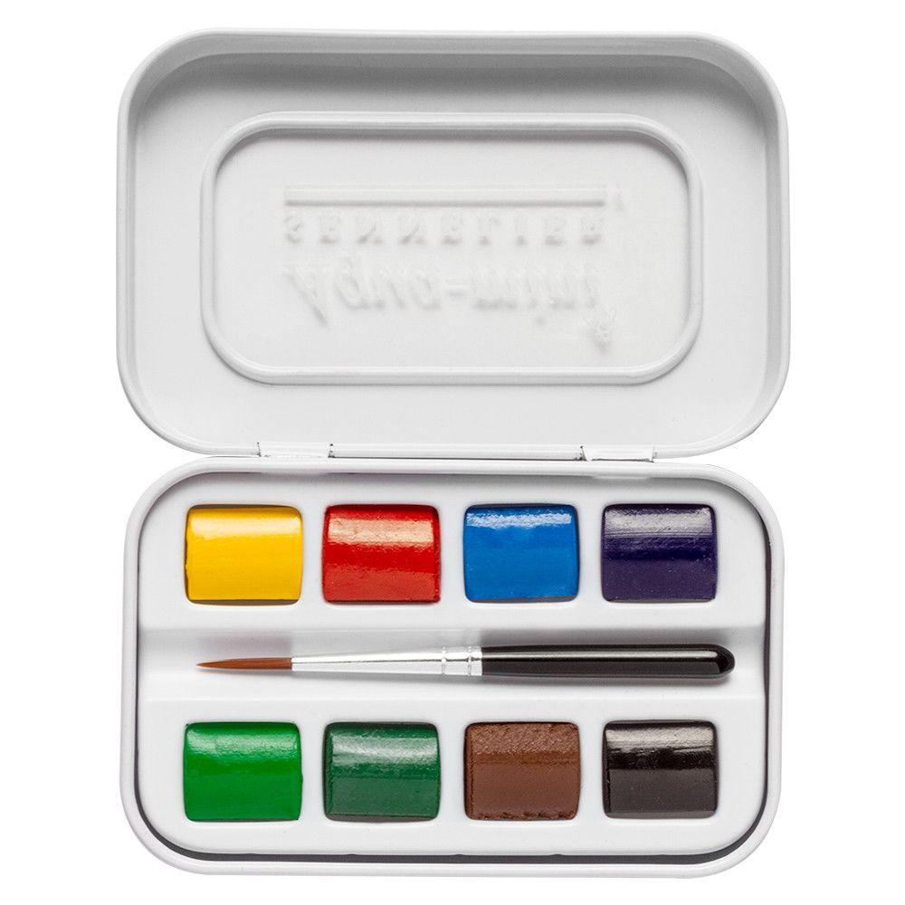 Sennelier Watercolour Paint Aqua Mini Set Of 8 Half Pans