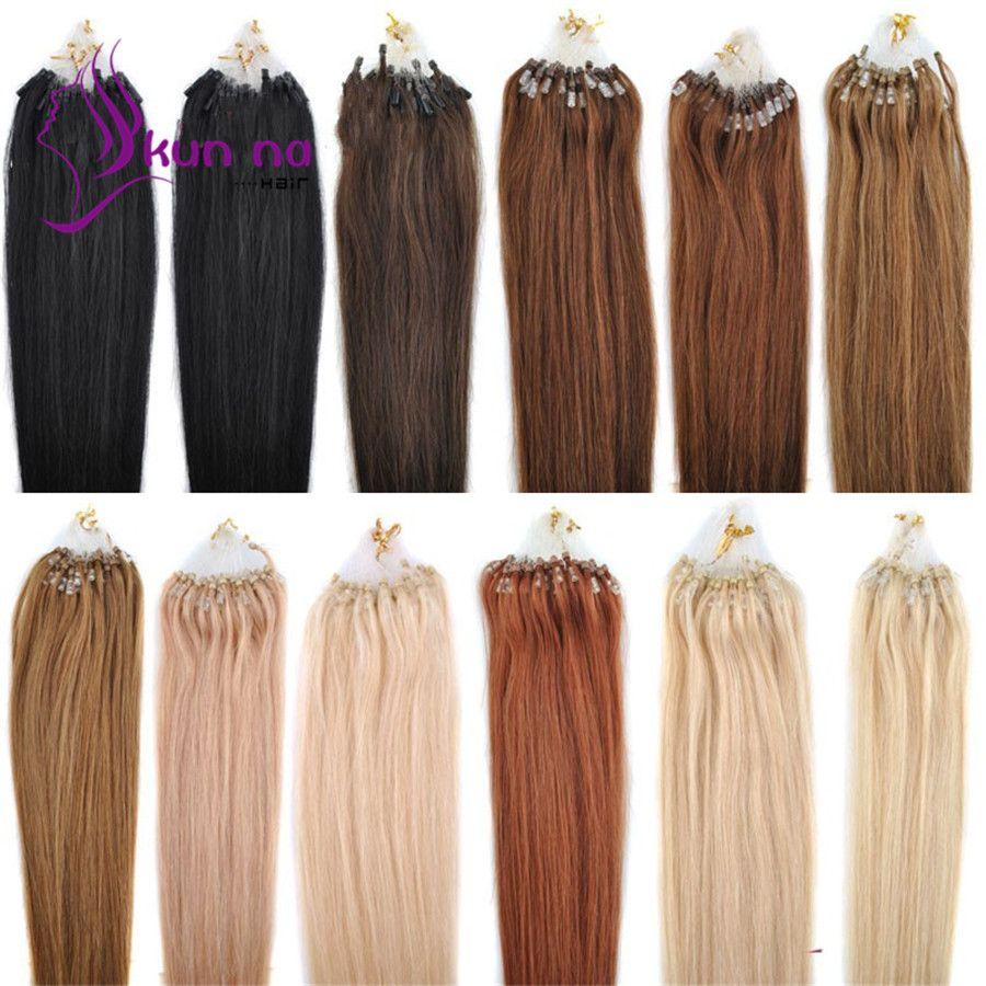05gstrand 100pcs Cheap Micro Loop Hair Extension Brazilian Remy