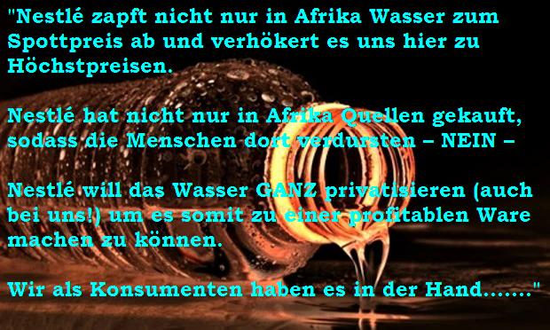 Nestle Wasser Ist Kein Menschenrecht