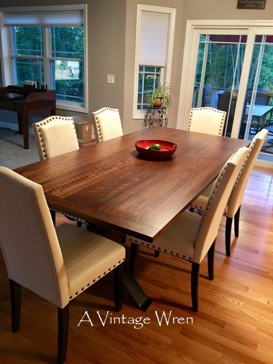 A Custom Made 7 Foot Long Industrial Style Table From Our Heirloom