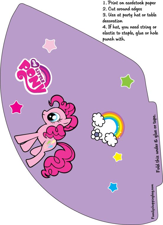 My Little Pony Party Hats Click For More Designs