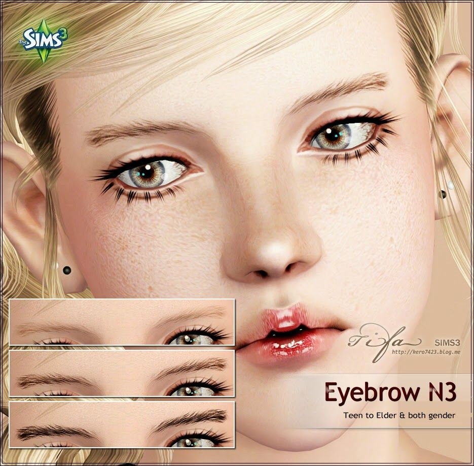 My Sims 3 Blog: Eyebrows, Makeup and Eyes by Tifa