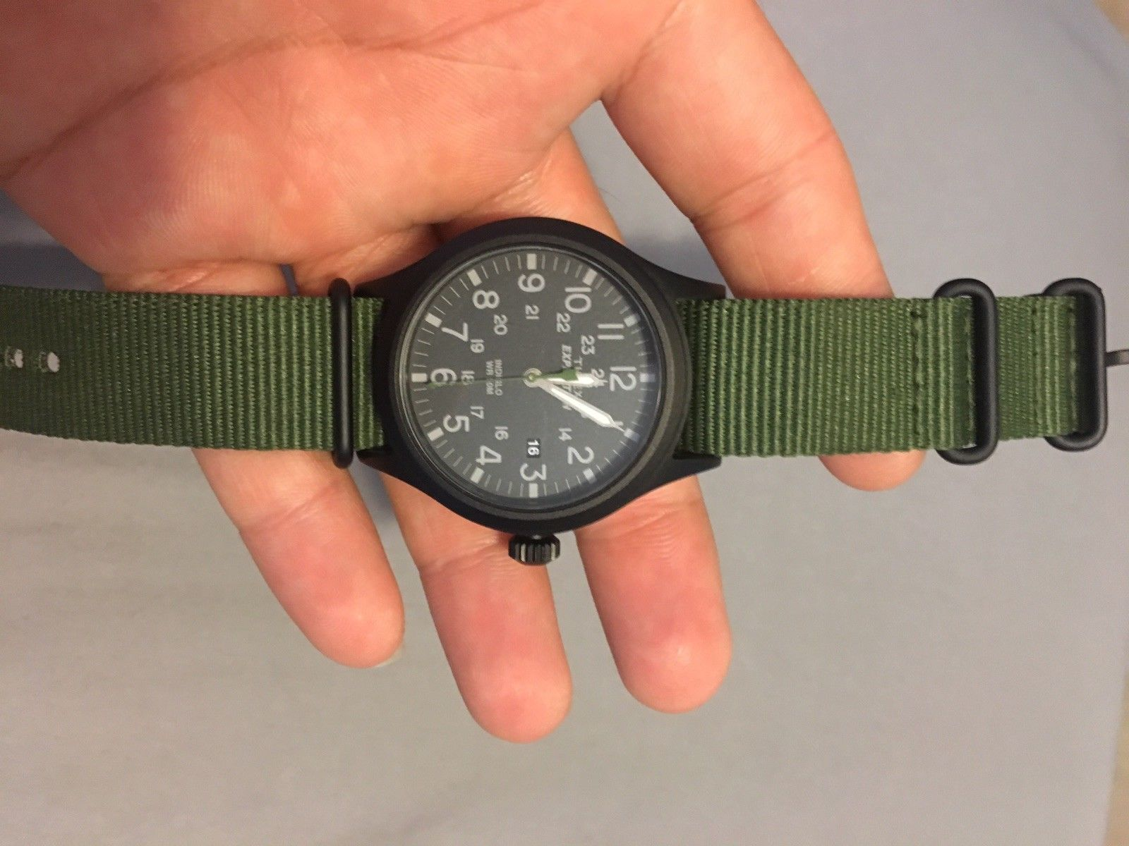 Green Nylon Tw4b047009j Mens Scout Timex Tw4b04700 Expedition Watch eEH9WD2IY