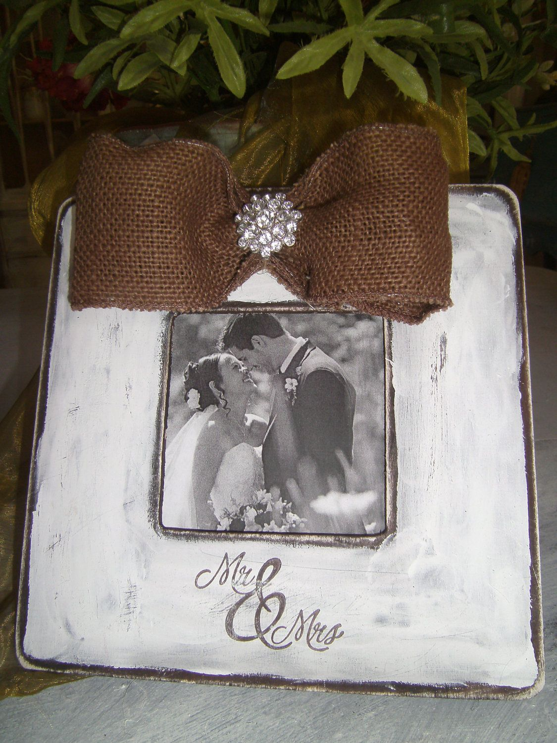 Mr. and Mrs. Distressed Picture Frame Perfect for a Rustic Wedding ...