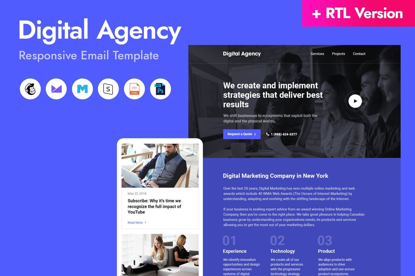 Digital Agency Email Template Html Psd Download Email Templates Responsive Email Template Digital Agencies
